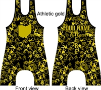 all over camo created with wrestlers in your choice of color