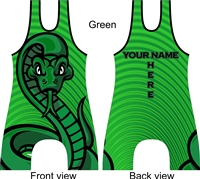 Snake wrestling singlet in several color options
