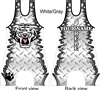 Tiger mascot with diamond plate background in a huge selection of color options customized with your state and name
