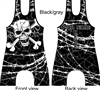 sublimated wrestling lifting singlet with skull many colors add name