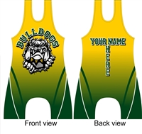 Sublimated wrestling singlet bulldog