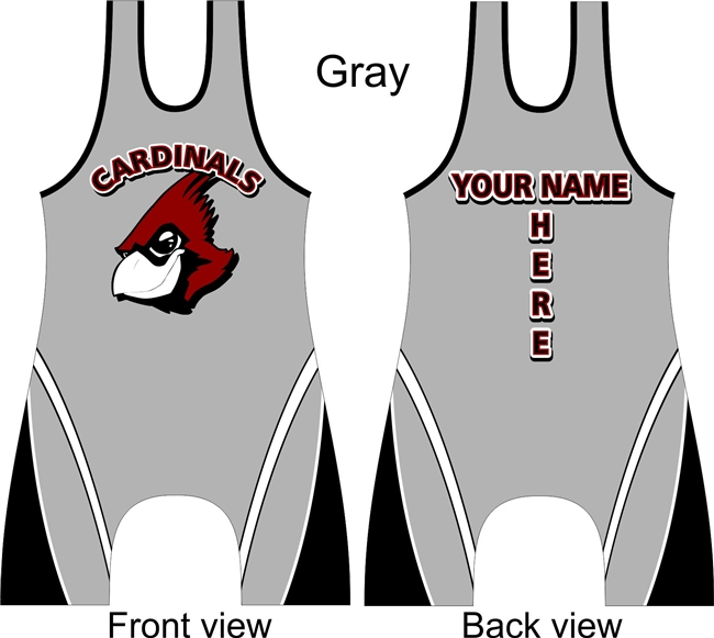 customized cardinal mascot singlet in several colors