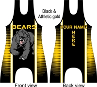 Bear mascot singlet in many colors