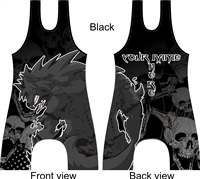 fully sublimated singlet with werewolf in many color options