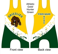 Bear mascot singlet in your choice of colors