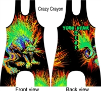 Sublimated singlet for wrestling or lifting