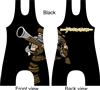frontiersman mascot singlet in several colors with your name added horizontally
