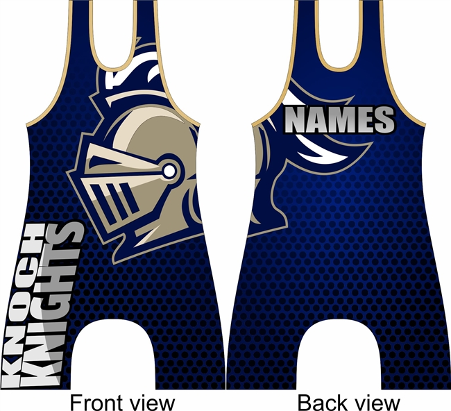 Knoch knights singlet with names