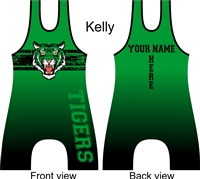 Custom sublimated old school style tiger singlet