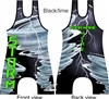 Custom printed Storm themed wrestling singlet