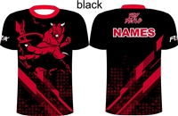 Black version of VVS Team apparel fully sublimated shirt