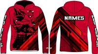 Custom sublimated vvs team hoodie 2019
