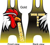 Sublimated wrestling or lifting singlet