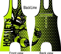 Poly/span sublimated wrestling singlet