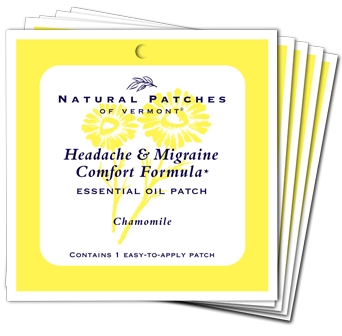 Chamomile Soothing Headache & Migraine Essential Oil Patch - 5 Ct. Bundle