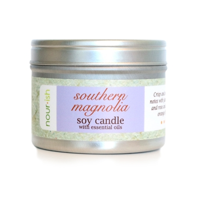 Southern Magnolia Travel Tin Soy Candle