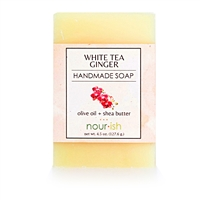White Tea Ginger Olive Oil and Shea Butter Soap