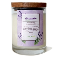 Lavender Glass Soy Candle