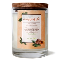 Orange & Fir Large Soy Candle
