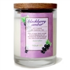 Blackberry Amber Glass Soy Candle