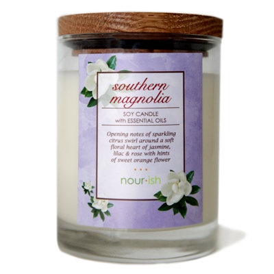 Southern Magnolia Glass Soy Candle