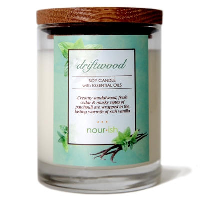 Driftwood Glass Soy Candle