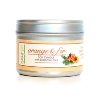 Orange & Fir Travel Tin Soy Candle