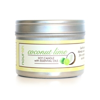 Coconut Lime Travel Tin Soy Candle