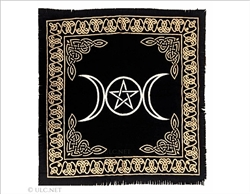 Altar Cloth with Silver Triple Moon