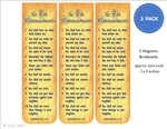 Ten Commandments Bookmarks 3-Pack