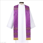 Brocade Banded Clergy Stole