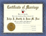 Custom personalized wedding certificate