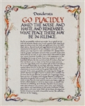 Desiderata Full Version Illuminated Print