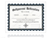Godparent Dedication Certificate