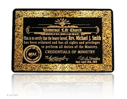 HQ Credentials of Ministry Card