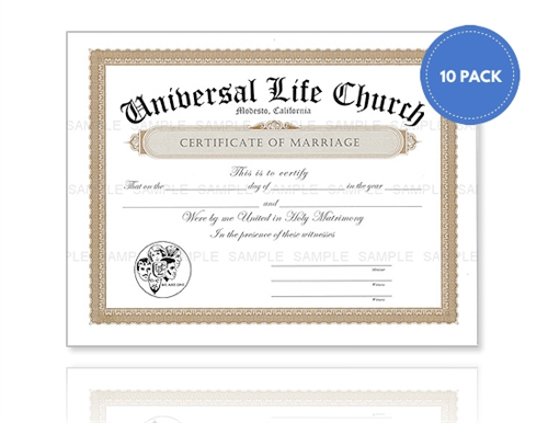 Marriage Certificate Pack