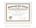 Universal Life Church Marriage Certificate