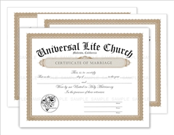 Marriage Certificates 3-Pack