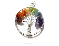 Tree of Life 7 Chakras Pendant