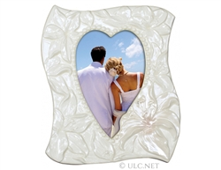 Porcelain Wedding Photo Frame (Heart)