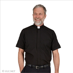 Short Sleeve Clergy Shirts for Men