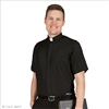Slim Fit Short Sleeve Clergy Shirt for Men