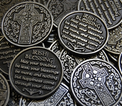 Celtic Cross Irish Blessing Token