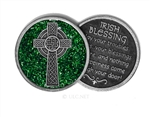 Celtic Cross Blessing Token (Green)