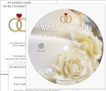Wedding Words on Disk | Universal Life Church Wedding Words Disk