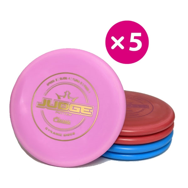 Dynamic Discs Classic Judge - 5 Putter Pack