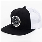 Dynamic Discs Foundation Patch Hat (BLACK & WHITE)