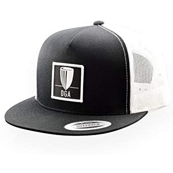 DGA Mesh Snapback Flat Bill Hat (BLACK & WHITE)
