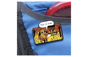Disc Golf Pins - This is Fine