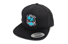 La Mirada Disc Golf Club Hat (BLACK)